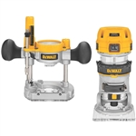 DeWalt DWP611PK 1-1/4 HP Max Torque Variable Speed Compact Router Combo Kit with LEDs