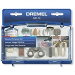 Dremel 687-01 52 Piece General Purpose Rotary Tool Accessory Kit With Case