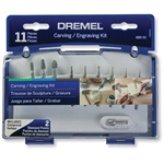 Dremel 689-01 11 Piece Rotary Tool Carving & Engraving Kit