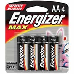 Energizer Max Double A Battery 4 Pack