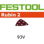Festool 499168  P220 Grit, Rubin 2 Abrasives for RO 90 / DX 93, Pack of 50-Sanders : Abrasives : Deltex 93 E Abrasives