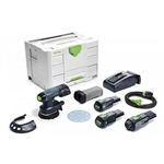Festool 575716 ETSC 125 18V Brushless Hybrid Cordless 5 in. Sander Bluetooth 3.1Ah Kit