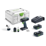 Festool 576457 T 18 Cordless Drill HighPower 4.0Ah SET Kit w/ Systainer