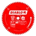 Diablo D0760A 7-1/4 in. 60T Ultra Finish Saw Blade 10 Pack