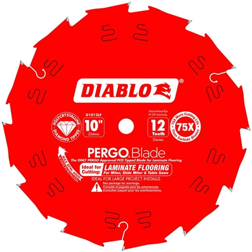 Diablo D1012lf Pcd Laminate Flooring Blade 10 Inch 12