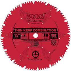 Freud LU83R015 15 inch 80 Tooth THIN KERF COMBINATION RED SAW BLADE