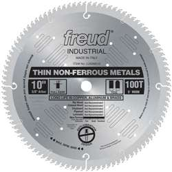 Freud LU90M010 10-Inch 100 Tooth TCG Thin Stock Non-Ferrous Metal Cutting Saw Blade with 5/8-Inch Arbor