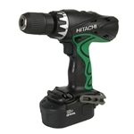 "Hitachi HIT-DV18DVC 18V 1/2"" Hammer Drill Kit, + 2 Batteries, 1.4 Ah and Case"