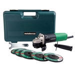 Metabo HPT G12SR4M 4-1/2 in. Angle Grinder 6.2 Amp with 5 Abrasive Wheels