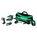 Hitachi KC18DVF 5-Piece 18-Volt Cordless Combo Kit