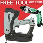 "Hitachi NT65GS 2-1/2"" Gas Powered 16 Gauge Straight Finish Nailer"