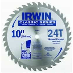 "Irwin 15070 10"" x 24T x 5/8"" Circular Saw Blade for Wood-Carded"