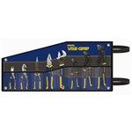 "Irwin 2078712 8 Pc. GrooveLock/Traditional Pliers Kitbag Set Contains: GV8, GV10, GV12, 10"" Adjustable Wrench, 8"" Long Nose, 8"" Linemans, 6"" Diagonal & 6"" Slip Joint"
