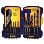 Irwin 314015 Drill Bit 15 Pc. Black Oxide Set - Metal Twist Drilling