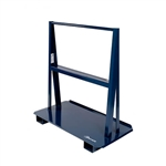"Jescraft Material Handling WA-48 A Frame Cart - Heavy Duty A Frame Cart With 8"" Mold On Rubber Casters (4 Swivel)"