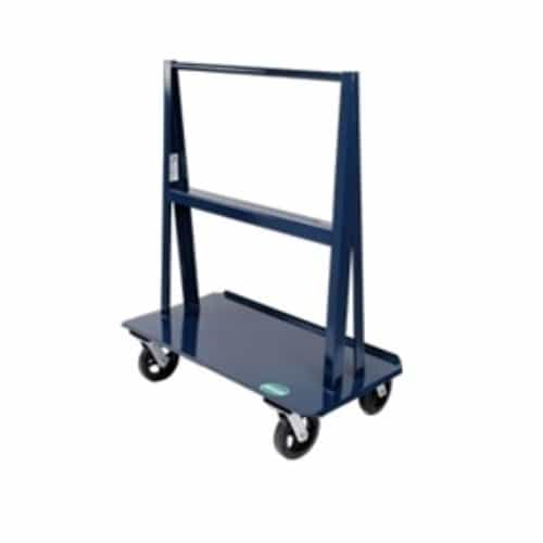 "Jescraft Material Handling WA-48PL A Frame Cart - Heavy Duty A Frame Cart With 8"" Polyurethane Casters (4 Swivel)"