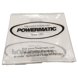 "Powermatic 1791087 PMCPB-20 20"" Clear Plastic Collection Bags for Powermatic Dust Collectors"