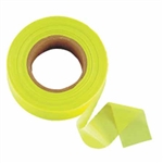 "Johnson Level - Flagging/Barricade Tape and Tape Dispensers: 3301-L GloLime Flagging Tape – 1"" x 200'"