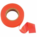 "Johnson Level - Flagging/Barricade Tape and Tape Dispensers: 3301-O GloOrange Flagging Tape – 1"" x 200'"
