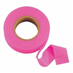 "Johnson Level - Flagging/Barricade Tape and Tape Dispensers: 3301-P GloPink Flagging Tape – 1"" x 200'"