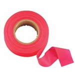 "Johnson Level - Flagging/Barricade Tape and Tape Dispensers: 3301-R GloRed Flagging Tape – 1"" x 200'"