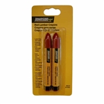 Johnson Level - Lumber Crayons: 3502-R Red Lumber Crayon – 2/Card