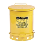 09301 Oil Waste Can with Foot Operated Cover 10 Gallon, Yellow by Justrite