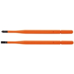 Klein 13156 Screwdriver Blades, Insulated, 2 pk