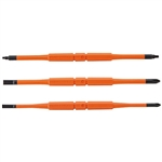 Klein 13157 Screwdriver Blades, Insulated Double-End, 3-Pack