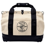Klein 5003-18 Tool Bag, Canvas with Leather Bottom, 18 in.