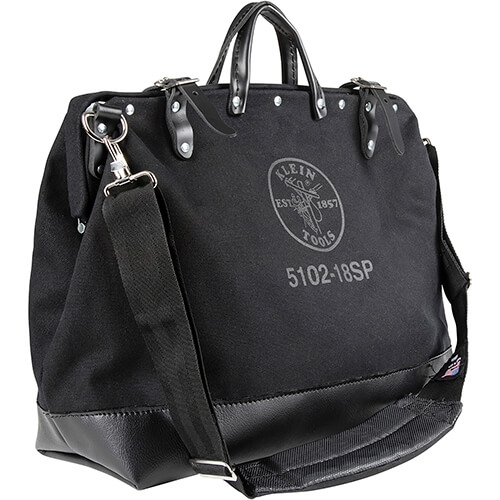 Klein 510216SPBLK Tool Bag, Large Canvas, 16 Pockets