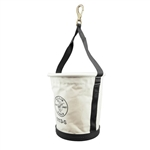 Klein 5113S Tapered-Wall Bucket with Swivel Snap Hook Canvas