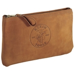 Klein Tools 5139L Top-Grain Leather Zipper Bag