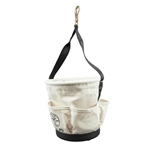 Klein Tools 5171PS Heavy-Duty Tapered-Wall Bucket - 4 Outside Pockets