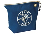 Klein Tools 5539BLU Canvas Zipper Bag- Consumables, Blue