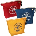 Klein Tools 5539CPAK Assorted Canvas Zipper Bags, 3-pack