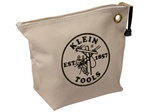 Klein Tools 5539NAT Canvas Zipper Bag- Consumables, Natural