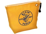 Klein Tools 5539YEL Canvas Zipper Bag- Consumables, Yellow