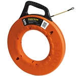Klein 56014 Fiberglass Fish Tape with Spiral Leader 200 ft.