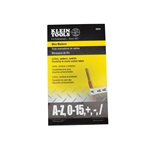 Klein 56253 Wire Markers - Black Letters, Numbers and Symbols