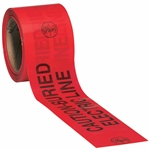 Klein Tools 58002 Barricade and Warning Tapes - CAUTION/BURIED ELECTRIC LINE - 200' (60.96 m)