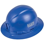 Klein 60249 Hard Hat, Non-vented, Full Brim, Blue