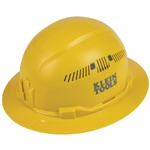Klein 60262 Hard Hat, Vented, Full Brim, Yellow