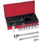Klein Tools 65504 12-Piece 3/8-Inch Drive Socket Wrench Set