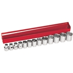 Klein Tools 65506 13-Piece 3/8-Inch Drive Metric Socket Wrench Set