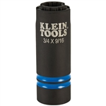 Klein 66031 3-in-1 Slotted Impact Socket 12 Point, 3/4 and 9/16 in.