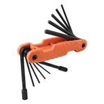 Klein 70550 Pro Folding Hex Key Set, 11 Fractional Inch-Sized Keys