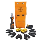 Klein BAT207T144H Battery-Operated Cable Cutter/Crimper Kit, 4 Ah