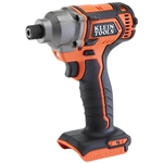 Klein BAT20CD Battery-Operated Compact Impact Driver, 1/4-Inch Hex Drive, Tool Only