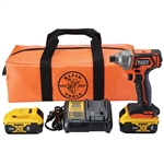 Klein BAT20CD1 Battery-Operated Compact Impact Driver, 1/4-Inch Hex Drive, Full Kit